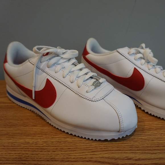 pick up e6942 61362 Nike Cortez Basic Leather OG White/Varsity Red